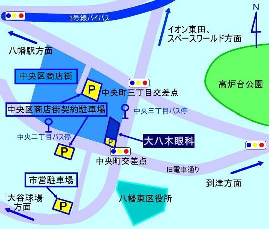 大八木眼科地図